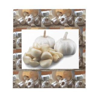 シェフの健康な食べ物の料理の芸術のニンニク乾燥 ノートパッド