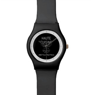 シェフのHauteのおもしろいでフランスのな料理 腕時計