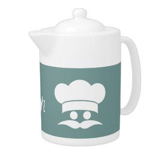シェフカスタムな色及びモノグラムの茶ポット