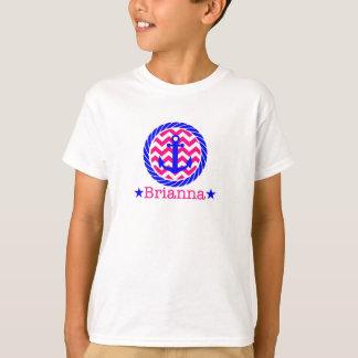 シェブロンおよびロープのTシャツ Tシャツ