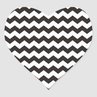 シェブロンのアステカな白黒ジグザグ形は縞で飾ります ハートシール