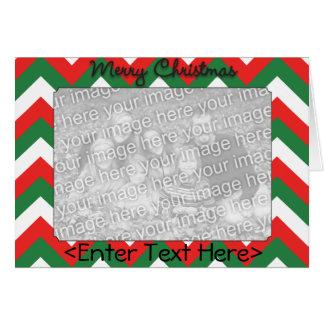 シェブロンのクリスマスカード カード