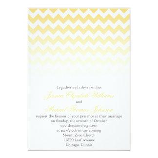 シェブロンのグラデーションな結婚式 カード
