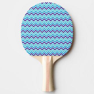シェブロンのストライプなジグザグ形の紫系統のゴム卓球 卓球ラケット
