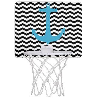 シェブロンのターコイズのいかりの小型バスケットボールたが ミニバスケットボールゴール