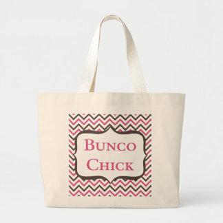 シェブロンのデザインのBuncoのひよこ ラージトートバッグ