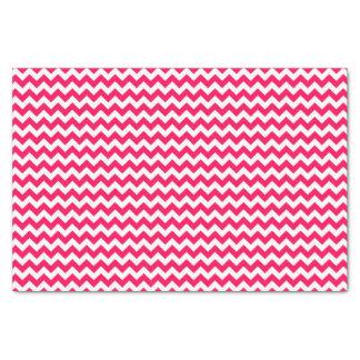シェブロンのピンクおよび白いストライプ 薄葉紙