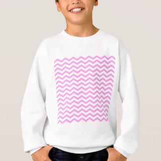 シェブロンのピンクのモノグラムのな名前入り スウェットシャツ