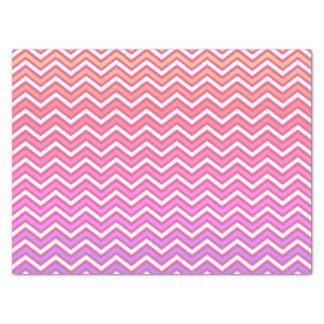 シェブロンのピンクの紫色 薄葉紙