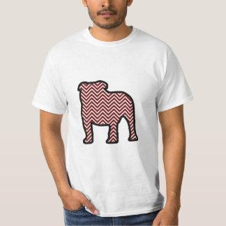 シェブロンのブルドッグ Tシャツ