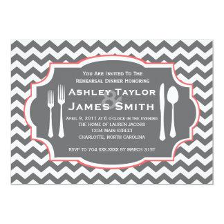 シェブロンのリハーサルの夕食の招待状 カード