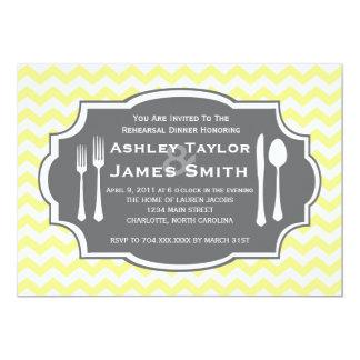 シェブロンのリハーサルの夕食の招待状 12.7 X 17.8 インビテーションカード