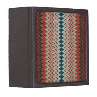 シェブロンの南西ジグザグ形の木製のギフト用の箱3x3 ギフトボックス