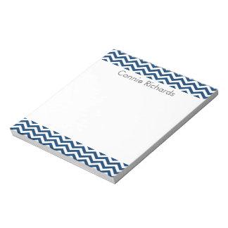 シェブロンの名前入りなメモ帳-海軍 ノートパッド