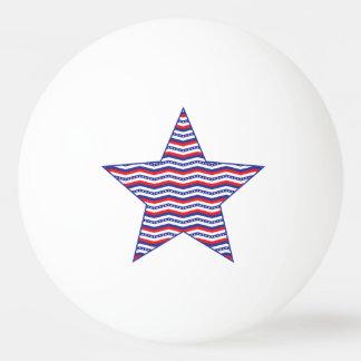 シェブロンの愛国心が強い星 卓球ボール