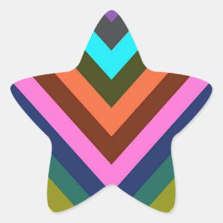 シェブロンの数々のな色 星シール