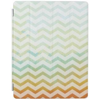 シェブロンの水彩画パターン芸術のモダン iPadスマートカバー