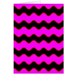 シェブロンの波状のジグザグ形は縞で飾ります カード