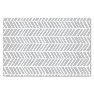 シェブロンの灰色のティッシュペーパー 薄葉紙