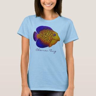 シェブロンの独特の味礁の魚の女性ベビードールのワイシャツ Tシャツ