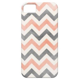 シェブロンの珊瑚の灰色の幾何学的なiPhone 5の箱 iPhone SE/5/5s ケース