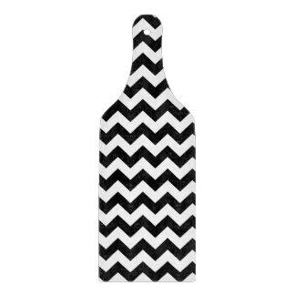 シェブロンの白黒クラシックなデザイン カッティングボード