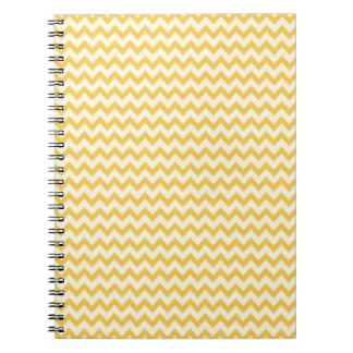 シェブロンの粋で黄色いストライプ ノートブック