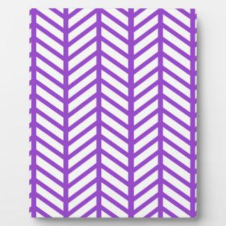 シェブロンの紫色のフォルダー フォトプラーク