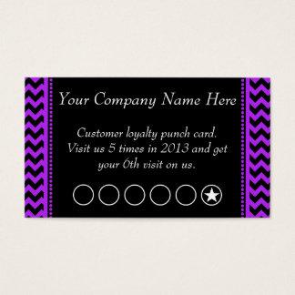 シェブロンの紫色の割引昇進のパンチカード 名刺