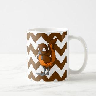 シェブロンの背部1を持つブラウンかオレンジReptilianの鳥 コーヒーマグカップ