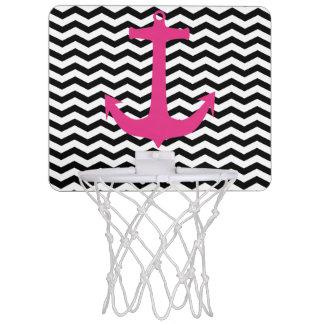 シェブロンの航海のなピンクのいかりの小型バスケットボールたが ミニバスケットボールゴール