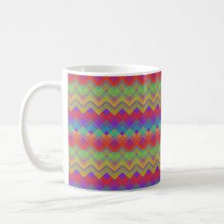 シェブロンの虹パターン コーヒーマグカップ