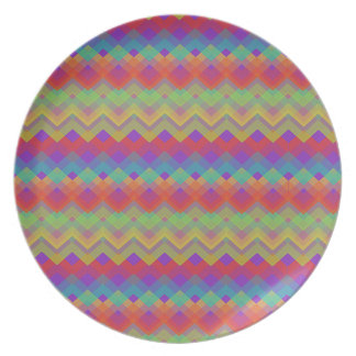 シェブロンの虹パターン プレート