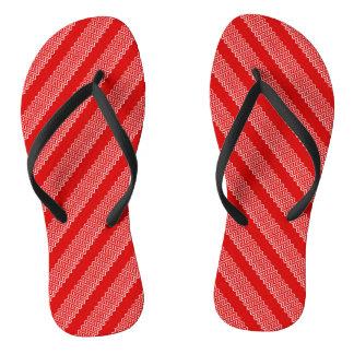 シェブロンの赤いブラインド ビーチサンダル