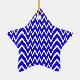 シェブロンの青い錯覚 セラミックオーナメント