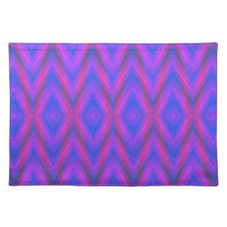 シェブロンの青および紫色のグラデーションなランチョンマット ランチョンマット