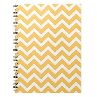 シェブロンの黄色いノート ノートブック