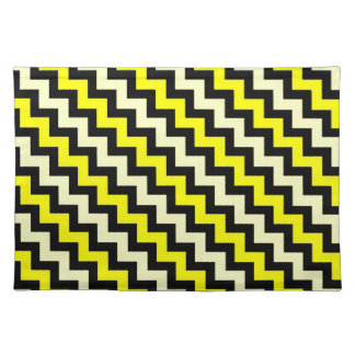 シェブロンの黄色く黒いスズメバチパターン ランチョンマット