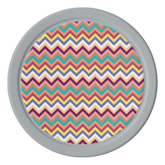 シェブロンカラフルで多彩なパターン ポーカーチップ