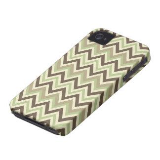 シェブロンパターンカスタムなブラックベリーの箱 Case-Mate iPhone 4 ケース