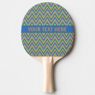シェブロンパターンカスタムの卓球ラケット 卓球ラケット