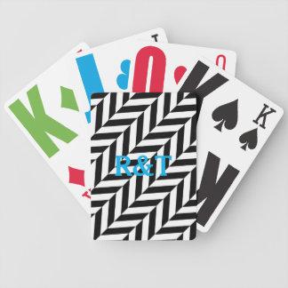 シェブロンパターンカスタム最初の遊ぶカード好意 バイスクルトランプ