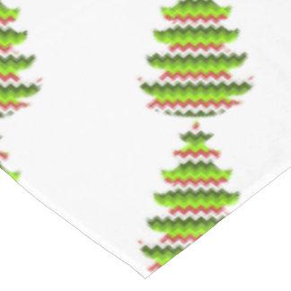 シェブロンパターン休日の木のデザインのジグザグ形 テーブルクロス