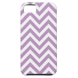 シェブロンパターンIphoneは薄紫を包装します iPhone SE/5/5s ケース