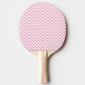 シェブロンピンクおよび白いパターン 卓球ラケット