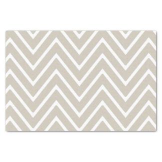 シェブロンベージュおよび白いパターン2 薄葉紙