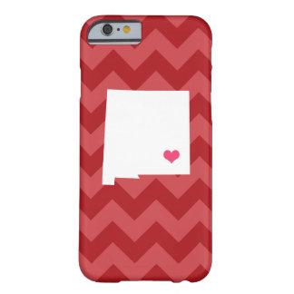 シェブロン名前入りで赤いニューメキシコのハート BARELY THERE iPhone 6 ケース