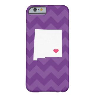 シェブロン名前入りな紫色のニューメキシコのハート BARELY THERE iPhone 6 ケース