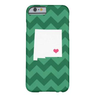 シェブロン名前入りな緑のニューメキシコのハート BARELY THERE iPhone 6 ケース