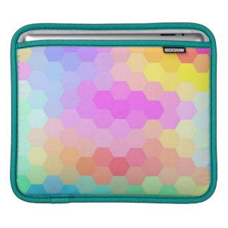 シェブロン多彩な継ぎ目が無いパターン iPadスリーブ